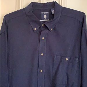 Roundtree and Yorke Navy Flannel Shirt
